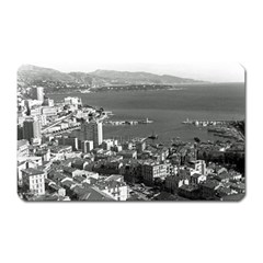 Vintage Principality of Monaco  the port of Monte Carlo Large Sticker Magnet (Rectangle)