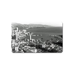 Vintage Principality of Monaco  the port of Monte Carlo Name Card Sticker Magnet