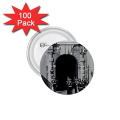 Vintage Principality of Monaco palace gate and guard 100 Pack Small Button (Round)