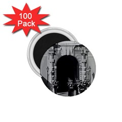 Vintage Principality of Monaco palace gate and guard 100 Pack Small Magnet (Round)