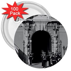 Vintage Principality of Monaco palace gate and guard 100 Pack Large Button (Round)