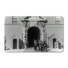 Vintage Principality of Monaco palace gate and guard Large Sticker Magnet (Rectangle)
