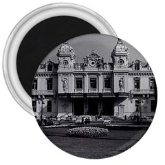 Vintage Principality of Monaco Monte Carlo Casino Large Magnet (Round)