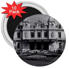 Vintage Principality of Monaco Monte Carlo Casino 10 Pack Large Magnet (Round)