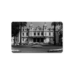 Vintage Principality Of Monaco Monte Carlo Casino Name Card Sticker Magnet