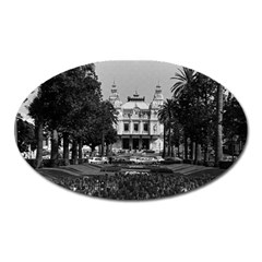 Vintage Principality of Monaco Monte Carlo Casino Large Sticker Magnet (Oval)