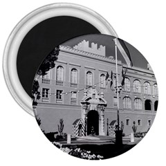 Vintage Principality Of Monaco Princely Palace 1970 Large Magnet (round)