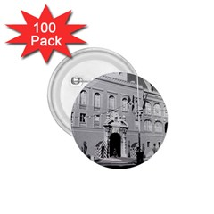 Vintage Principality of Monaco princely palace 1970 100 Pack Small Button (Round)
