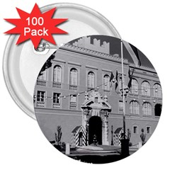 Vintage Principality of Monaco princely palace 1970 100 Pack Large Button (Round)
