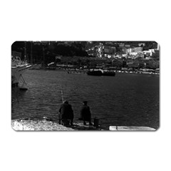 Vintage Principality of Monaco The port of Monaco 1970 Large Sticker Magnet (Rectangle)