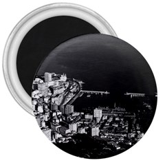Vintage Principality of Monaco overview 1970 Large Magnet (Round)