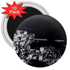 Vintage Principality of Monaco overview 1970 10 Pack Large Magnet (Round)
