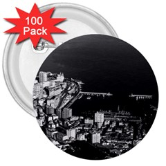 Vintage Principality of Monaco overview 1970 100 Pack Large Button (Round)