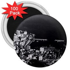 Vintage Principality of Monaco overview 1970 100 Pack Large Magnet (Round)
