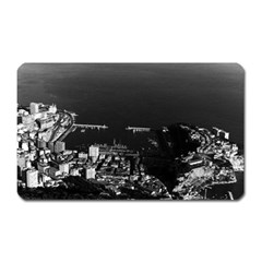 Vintage Principality of Monaco overview 1970 Large Sticker Magnet (Rectangle)