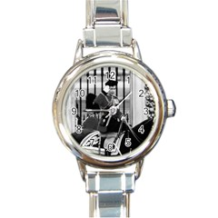 Vintage UK England  queen Elizabeth 2 Buckingham Palace Classic Elegant Ladies Watch (Round)