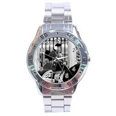 Vintage UK England  queen Elizabeth 2 Buckingham Palace Stainless Steel Analogue Watch (Round)