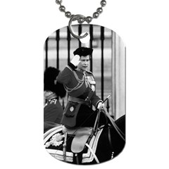 Vintage UK England  queen Elizabeth 2 Buckingham Palace Twin-sided Dog Tag