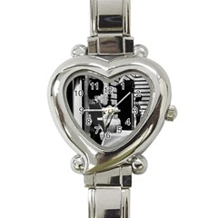 Vintage UK England London sentry at Buckingham palace Classic Elegant Ladies Watch (Heart)