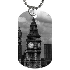 Vintage UK England London The post office tower Big ben Single-sided Dog Tag