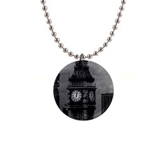Vintage Uk England London The Post Office Tower Big Ben Mini Button Necklace
