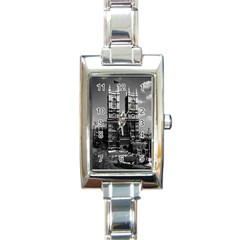 Vintage UK England London Westminster Abbey 1970 Classic Elegant Ladies Watch (Rectangle)