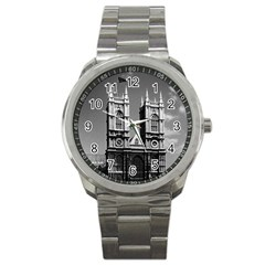 Vintage UK England London Westminster Abbey 1970 Stainless Steel Sports Watch (Round)