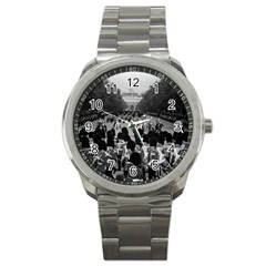 Vintage UK England the Guards returning along the Mall Stainless Steel Sports Watch (Round)