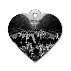 Vintage Uk England The Guards Returning Along The Mall Twin Sided Dog Tag (heart)