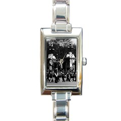 Vintage England London Changing guard Buckingham palace Classic Elegant Ladies Watch (Rectangle)