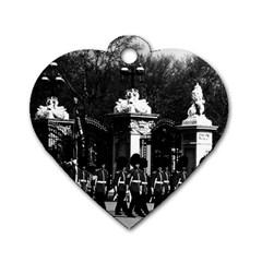 Vintage England London Changing guard Buckingham palace Single-sided Dog Tag (Heart)