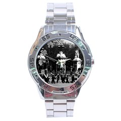 Vintage England London Changing Guard Buckingham Palace Stainless Steel Analogue Watch (round)