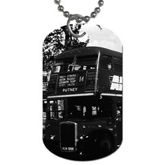 Vintage UK England London double-decker bus 1970 Twin-sided Dog Tag