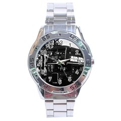 Vintage UK England London double-decker bus 1970 Stainless Steel Analogue Watch (Round)