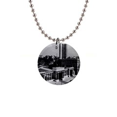 Vintage Uk England London Hyde Park Corner Hilton 1970 Mini Button Necklace