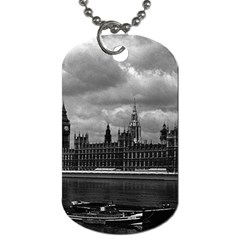 Vintage  UK England London The houses of parliament 1970 Single-sided Dog Tag