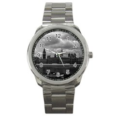 Vintage  UK England London The houses of parliament 1970 Stainless Steel Sports Watch (Round)