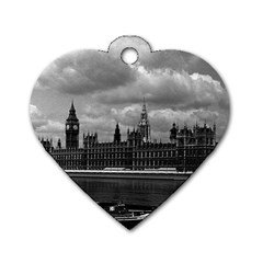 Vintage  UK England London The houses of parliament 1970 Twin-sided Dog Tag (Heart)