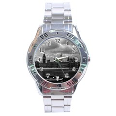 Vintage  UK England London The houses of parliament 1970 Stainless Steel Analogue Watch (Round)