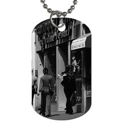 Vintage UK England London Shops Carnaby street 1970 Twin-sided Dog Tag