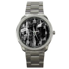 Vintage Uk England London Shops Carnaby Street 1970 Stainless Steel Sports Watch (round)