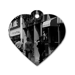 Vintage UK England London Shops Carnaby street 1970 Single-sided Dog Tag (Heart)