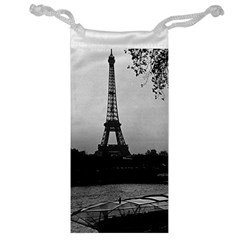 Vintage France Paris Eiffel tour Seine at dusk 1970 Glasses Pouch