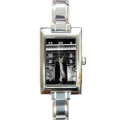 Vintage France Paris Triumphal arch 1970 Classic Elegant Ladies Watch (Rectangle)