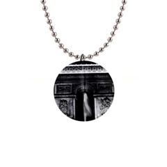 Vintage France Paris Triumphal arch 1970 Mini Button Necklace