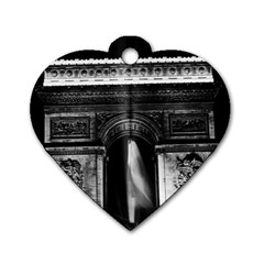 Vintage France Paris Triumphal Arch 1970 Twin Sided Dog Tag (heart)