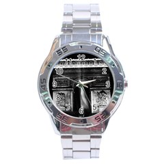 Vintage France Paris Triumphal arch 1970 Stainless Steel Analogue Watch (Round)
