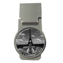 Vintage France Paris Fontain Chaillot Tour Eiffel 1970 Money Clip (round)
