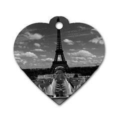 Vintage France Paris Fontain Chaillot Tour Eiffel 1970 Twin-sided Dog Tag (Heart)