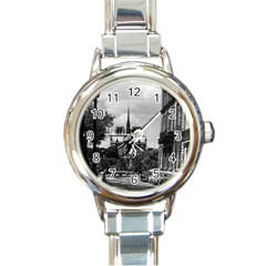 Vintage France Paris notre dame saint louis island 1970 Classic Elegant Ladies Watch (Round)